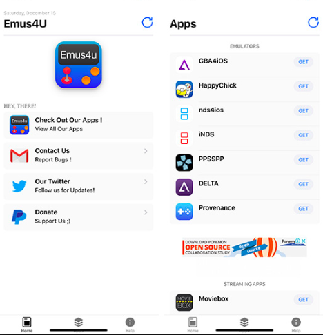 Emus4u Download - App Homepage