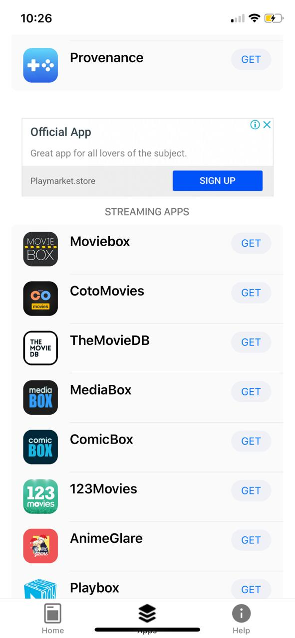 Search for MediaBox HD App in Emus4u Store