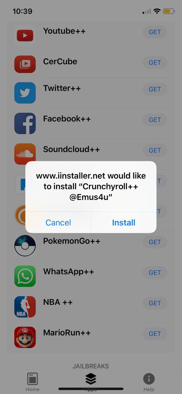 Crunchyroll++ Install on iOS - Emus4u App