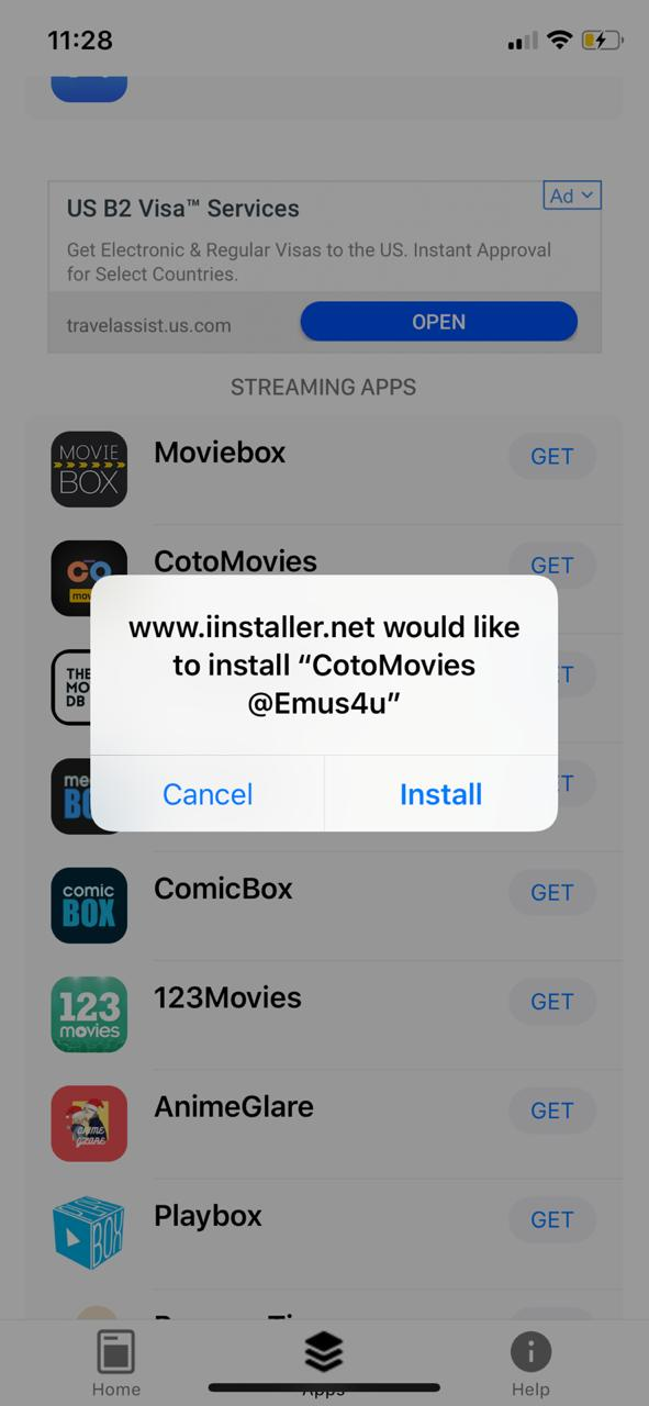 Download Cotomovies on iOS USING Emus4u