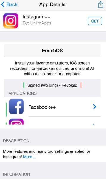 Instagram++ Download on iOS