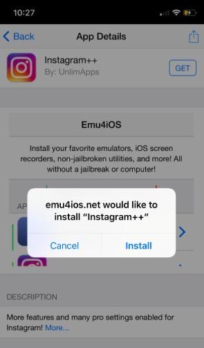 Instagram++ Install on iOS